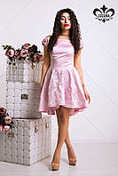 Очаровательное коктейльное розовое платье Марита  Luzana 42-48 размеры