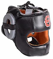 Шлем боксерский с бампером BigFight - RHGF-01(кожа) L, черный/black