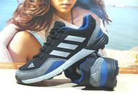 Кроссовки мужские Adidas Сontinental (реплика) серо-черные 45 р., фото 1