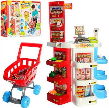 Игровой набор Супермаркет 668-20 с тележкой, кассой и прилавком, фото 2