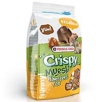 Versele-Laga Crispy Muesli Hamster ВЕРСЕЛЕ-ЛАГА КРИСПИ МЮСЛИ ХОМЯК зерновая смесь корм для хомяков, крыс, мышей, песчанок, 0,4кг