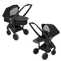 Greentom - Детская коляска Upp 2 в 1, цвет черный - черное шасси