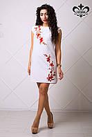Стильное женское белое платье Аделина Luzana 42-50 размеры