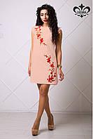 Стильное женское розовое платье Аделина Luzana 42-50 размеры
