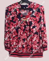 Оригинальная женская блуза с брошкой 10052