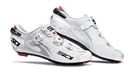 Велотуфлі Шосе Sidi Wire Air Carbon Lucido White/White