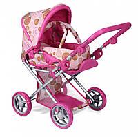 Детская коляска 2 в 1 с люлькой «Mary» , розовая арт. 9346P