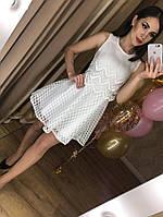 Превосходное женское платье (фабричный Китай, кружево, длина мини, нарядное, широкая юбка) РАЗНЫЕ ЦВЕТА!