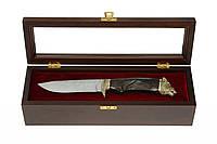 Нож охотничий Кабан Дамаская сталь, Кульбида и Лесючевский, ЭЛИТНАЯ СЕРИЯ, ручная работа