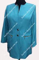 Стильный женский пиджак-кардиган больших размеров 6370