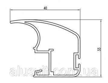 Вертикальный профиль SLIPP С-40 светлая бронза (шампань) открытый, фото 2