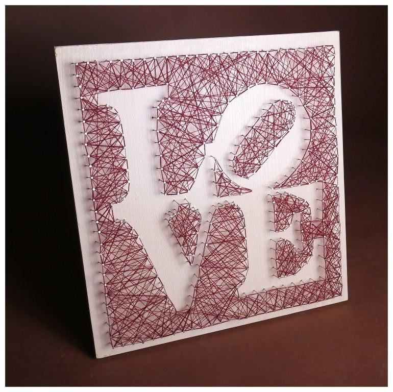 """Панно """"Love"""" картина стринг-арт, фото 1"""