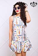 Короткое женское платье Наина Luzana 42-50 размеры