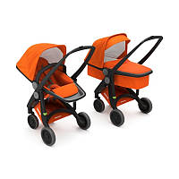 Greentom - Детская коляска Upp 2 в 1, цвет оранжевый - черное шасси