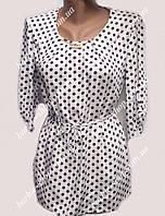Стильная женская блузка в горошек 1802