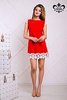 Красное женское платье Лейла Luzana 42-50 размеры