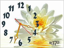 Часы на стену,цветы красивые, 30х40 см для кухни, гостиной, детской, спальни. Подарок