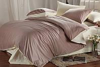 Полуторное атласное постельное бельё Жемчужно-лиловое