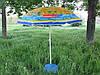 Пляжний парасольку з нахилом 1.6 метра дм з конструкцією ромашки