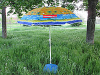 Пляжный  зонт с наклоном 1.6 метра дм с конструкцией ромашки