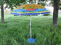 Пляжний парасольку з нахилом 1.6 метра дм з конструкцією ромашки, фото 1