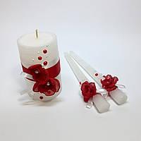 Свадебные свечи ручной работы №2.