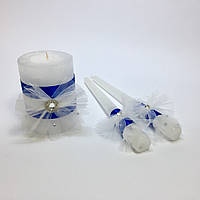 Свадебные свечи ручной работы №3.