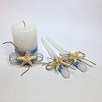 Свадебные свечи ручной работы №6.