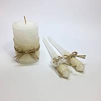 Свадебные свечи ручной работы №7.