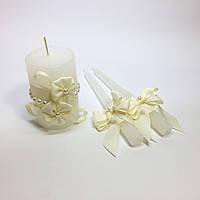 Свадебные свечи ручной работы №8.