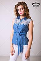 Женская летняя рубашка Лайма ТМ Luzana 42-50 размеры