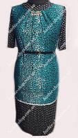 Платье большого размера в деловом стиле 2201,размер 56-62