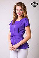 Женская сиреневая блуза Рейчел ТМ Luzana 42-50 размеры