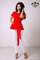 Женская красная блуза Рейчел ТМ Luzana 42-50 размеры