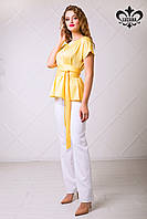 Женская желтая блуза Рейчел ТМ Luzana 42-50 размеры