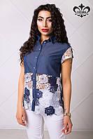 Стильная женская рубашка Женева ТМ Luzana 42-50 размеры