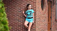 Костюм шорты и топ New York  +цвета