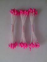 Тычинки для цветов розовые кругло-острые 25шт.(код 02159)