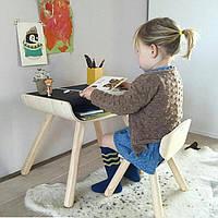 Стол и стул - чёрный, PlanToys