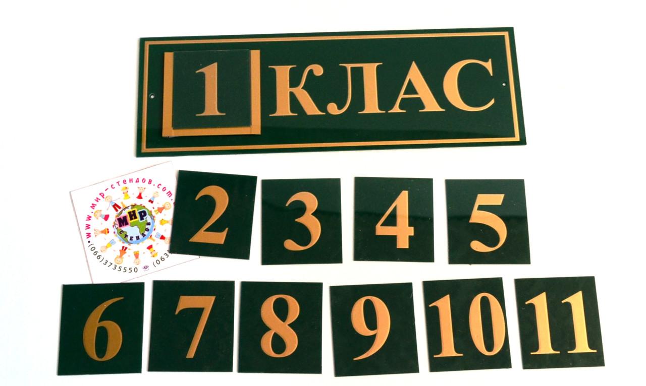 Табличка кабинетная Класс с кармашком и вставками