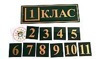 Табличка кабинетная Класс с кармашком и вставками, фото 1