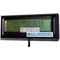 Индикатор покупателя ICS-Tech IKC-РКІ-2х16-DB(black)