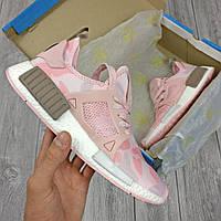 Женские кроссовки в стиле Adidas NMD XR1 розовые, фото 1