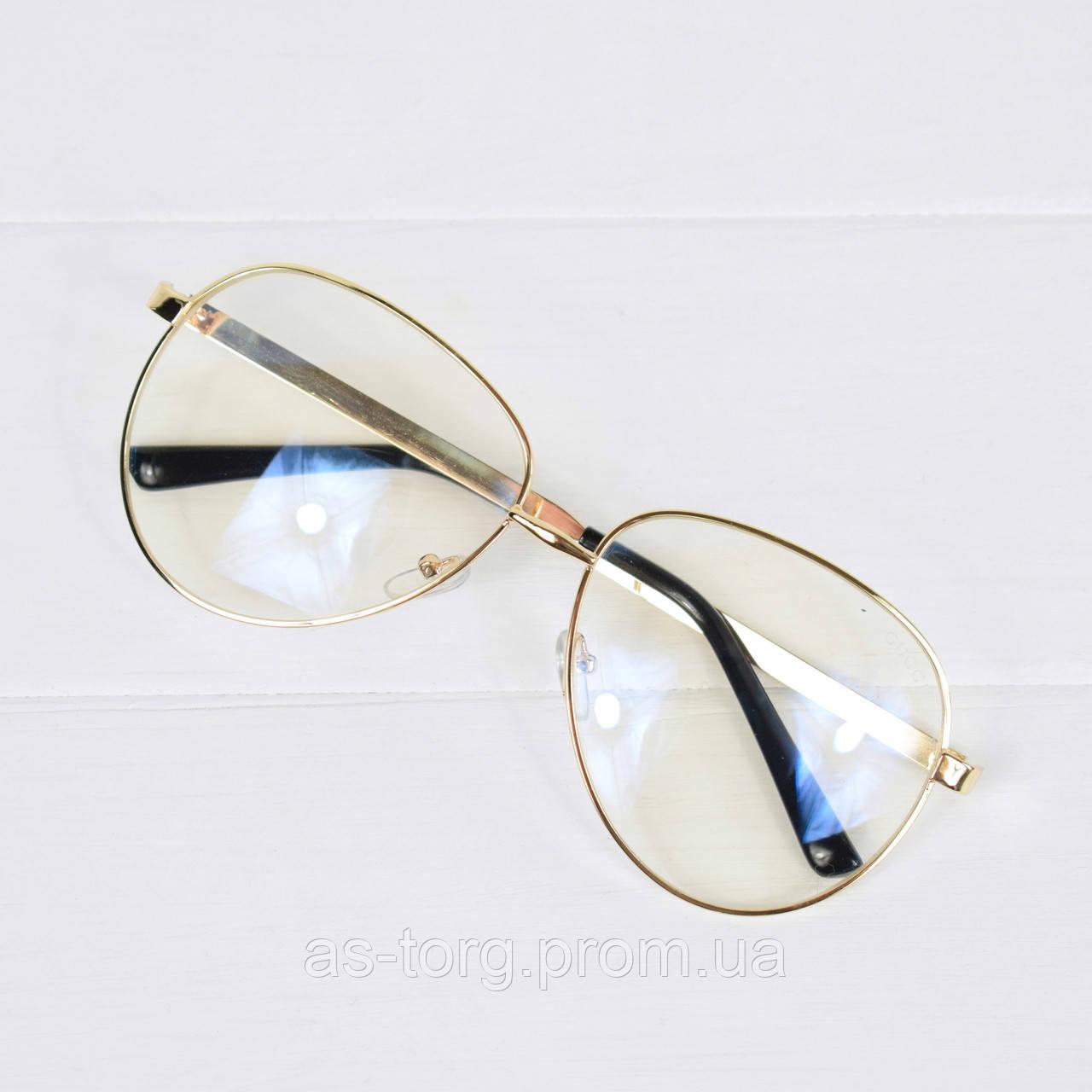 Очки женские Gucci золотые имидж, магазин очков  продажа, цена в ... f47fa605575