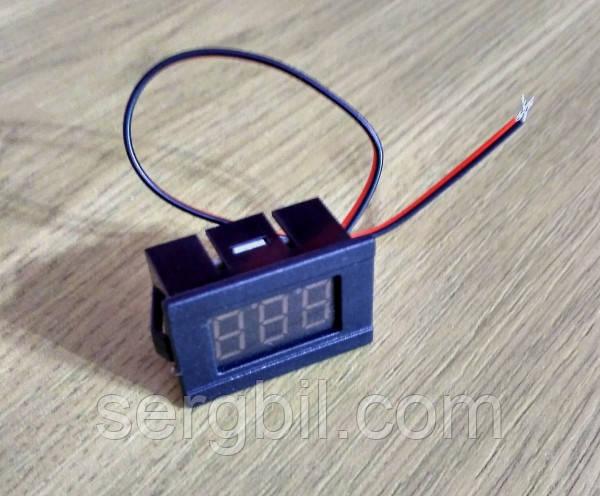 V33D 4,5-30V DC вольтметр 0,36'' врезной 30х19мм, красный