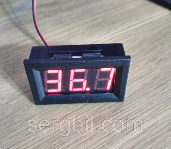 VD58 5-120V DC вольтметр 0,56'' врезной 45х26мм, красный