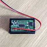 VD58 5-120V DC вольтметр 0,56'' врезной 45х26мм, красный, фото 2