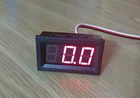 VD58 0-40V DC вольтметр 0,56'' врезной 45х26мм, красный