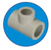 Тройник однозначный ASG-plast d32x32x32 мм