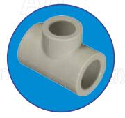 Тройник редуцированный ASG-plast d32x25x32 мм